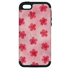 Watercolor Flower Patterns Apple Iphone 5 Hardshell Case (pc+silicone) by TastefulDesigns