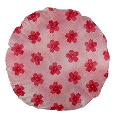 Watercolor Flower Patterns Large 18  Premium Flano Round Cushions by TastefulDesigns