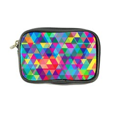 Colorful Abstract Triangle Shapes Background Coin Purse by TastefulDesigns