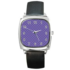 Abstract Purple Pattern Background Square Metal Watch by TastefulDesigns
