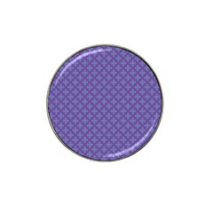 Abstract Purple Pattern Background Hat Clip Ball Marker by TastefulDesigns