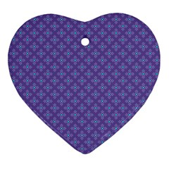 Abstract Purple Pattern Background Heart Ornament (two Sides) by TastefulDesigns