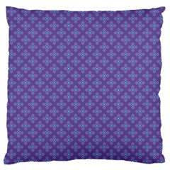 Abstract Purple Pattern Background Large Cushion Case (two Sides) by TastefulDesigns
