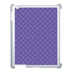 Abstract Purple Pattern Background Apple Ipad 3/4 Case (white) by TastefulDesigns