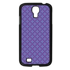 Abstract Purple Pattern Background Samsung Galaxy S4 I9500/ I9505 Case (black) by TastefulDesigns