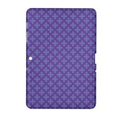 Abstract Purple Pattern Background Samsung Galaxy Tab 2 (10 1 ) P5100 Hardshell Case  by TastefulDesigns