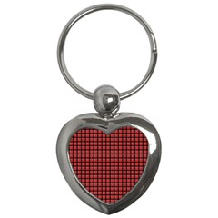 Red Plaid Key Chains (heart)  by PhotoNOLA