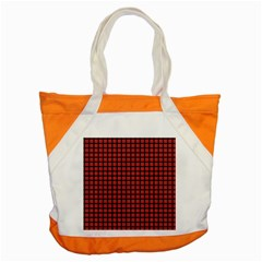 Red Plaid Accent Tote Bag by PhotoNOLA