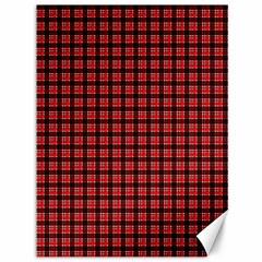 Red Plaid Canvas 36  X 48   by PhotoNOLA