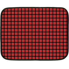 Red Plaid Double Sided Fleece Blanket (mini)  by PhotoNOLA