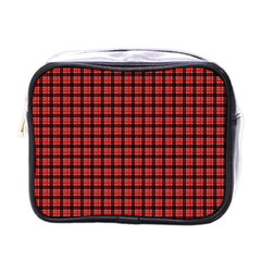 Red Plaid Mini Toiletries Bags by PhotoNOLA