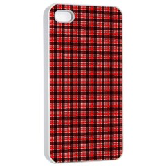Red Plaid Apple Iphone 4/4s Seamless Case (white) by PhotoNOLA