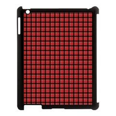 Red Plaid Apple Ipad 3/4 Case (black) by PhotoNOLA