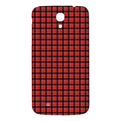 Red Plaid Samsung Galaxy Mega I9200 Hardshell Back Case by PhotoNOLA