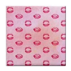 Watercolor Kisses Patterns Tile Coasters by TastefulDesigns