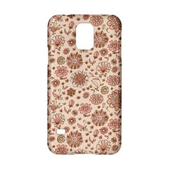 Retro Sketchy Floral Patterns Samsung Galaxy S5 Hardshell Case  by TastefulDesigns