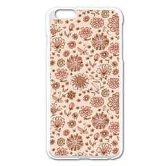 Retro Sketchy Floral Patterns Apple Iphone 6 Plus/6s Plus Enamel White Case by TastefulDesigns