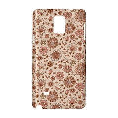Retro Sketchy Floral Patterns Samsung Galaxy Note 4 Hardshell Case by TastefulDesigns