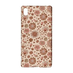 Retro Sketchy Floral Patterns Sony Xperia Z3+ by TastefulDesigns