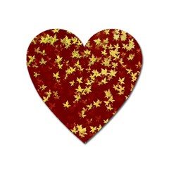 Background Design Leaves Pattern Heart Magnet by Simbadda