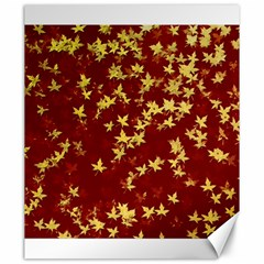 Background Design Leaves Pattern Canvas 20  X 24   by Simbadda