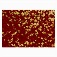 Background Design Leaves Pattern Large Glasses Cloth by Simbadda