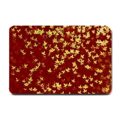 Background Design Leaves Pattern Small Doormat  by Simbadda
