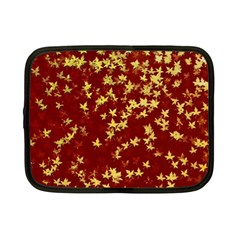 Background Design Leaves Pattern Netbook Case (small)  by Simbadda