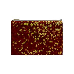 Background Design Leaves Pattern Cosmetic Bag (medium)  by Simbadda