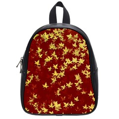 Background Design Leaves Pattern School Bags (small)  by Simbadda