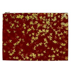 Background Design Leaves Pattern Cosmetic Bag (xxl)  by Simbadda