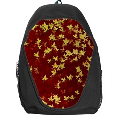 Background Design Leaves Pattern Backpack Bag by Simbadda