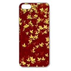 Background Design Leaves Pattern Apple Seamless Iphone 5 Case (clear) by Simbadda
