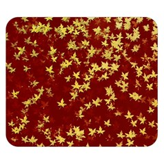Background Design Leaves Pattern Double Sided Flano Blanket (small)  by Simbadda