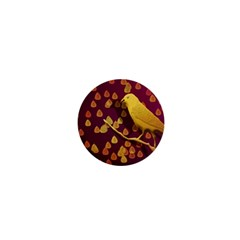Bird Design Wall Golden Color 1  Mini Buttons by Simbadda