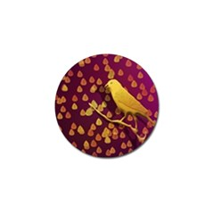 Bird Design Wall Golden Color Golf Ball Marker (4 Pack) by Simbadda