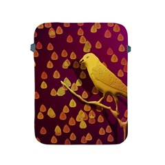 Bird Design Wall Golden Color Apple Ipad 2/3/4 Protective Soft Cases by Simbadda