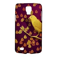 Bird Design Wall Golden Color Galaxy S4 Active by Simbadda