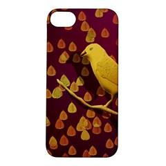 Bird Design Wall Golden Color Apple Iphone 5s/ Se Hardshell Case by Simbadda