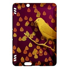 Bird Design Wall Golden Color Kindle Fire Hdx Hardshell Case by Simbadda