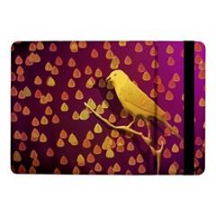 Bird Design Wall Golden Color Samsung Galaxy Tab Pro 10 1  Flip Case by Simbadda