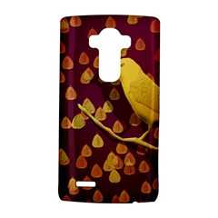 Bird Design Wall Golden Color Lg G4 Hardshell Case by Simbadda
