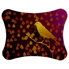 Bird Design Wall Golden Color Jigsaw Puzzle Photo Stand (bow) by Simbadda