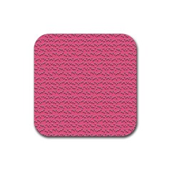 Background Letters Decoration Rubber Coaster (square)  by Simbadda