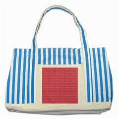 Background Letters Decoration Striped Blue Tote Bag by Simbadda