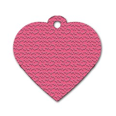 Background Letters Decoration Dog Tag Heart (one Side) by Simbadda