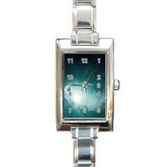 Astronaut Space Travel Gravity Rectangle Italian Charm Watch by Simbadda