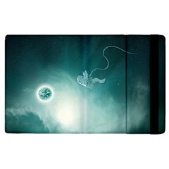 Astronaut Space Travel Gravity Apple Ipad 3/4 Flip Case by Simbadda