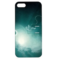 Astronaut Space Travel Gravity Apple Iphone 5 Hardshell Case With Stand by Simbadda