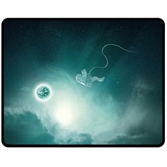 Astronaut Space Travel Gravity Double Sided Fleece Blanket (medium)  by Simbadda